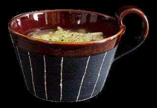 アメ釉スープカップ