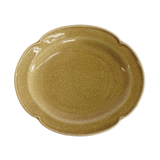 oribe pottery プランセスプレートS 墨貫入 ブラウン
