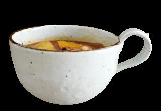 鉄粉引スープカップ