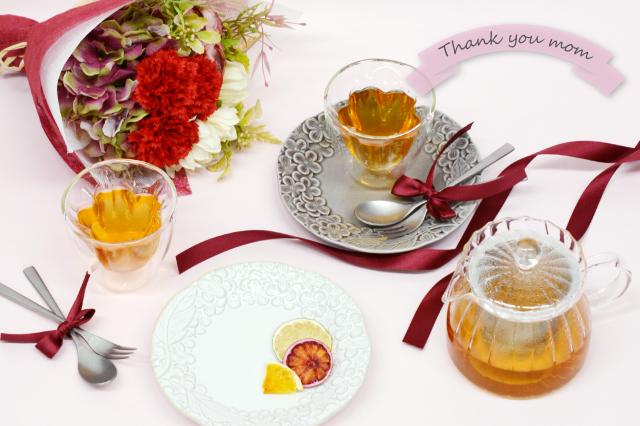 花彫りお茶会セット