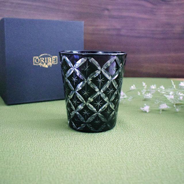 いつでも使いやすく贈り物に最適な切子オールドグラス星七宝ブラック