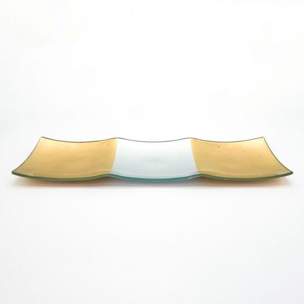 おめでたい日のおもてなしに金銀市松ガラス3仕切