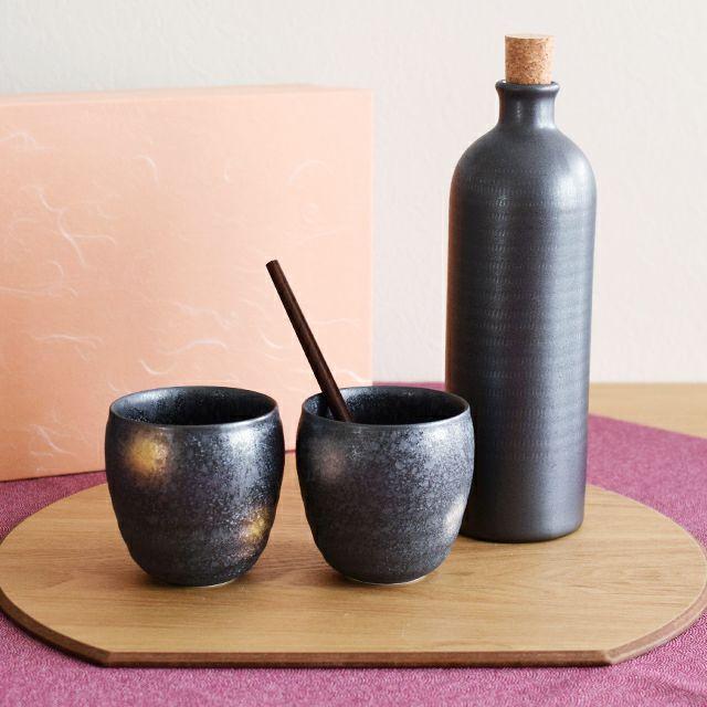 晶金銀彩焼酎セット(マドラー付)