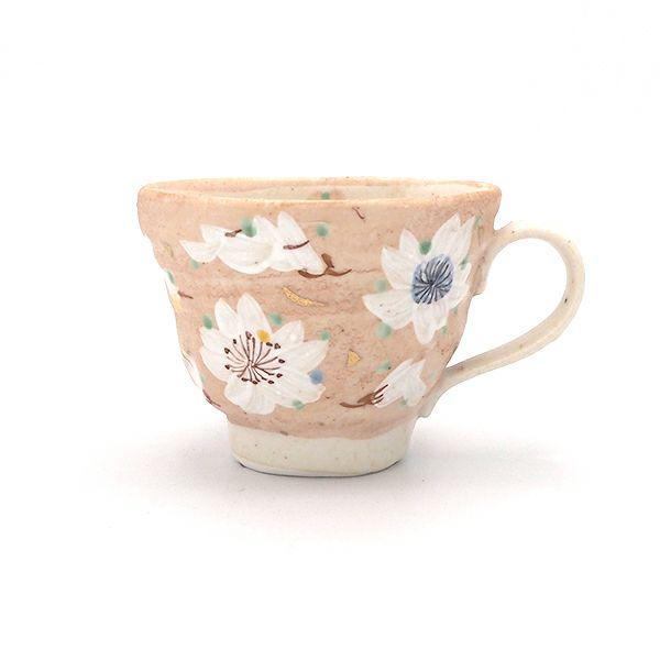手作りの温かみ感じられる薄墨桜 マグカップ