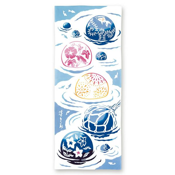 宮本注染手拭い ビードロ浮き球