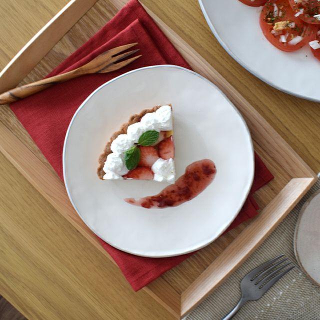 クレイ丸皿 M ホワイト