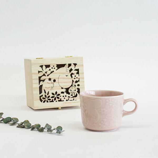 MOOMINキャベリー木箱入マグ ピンク