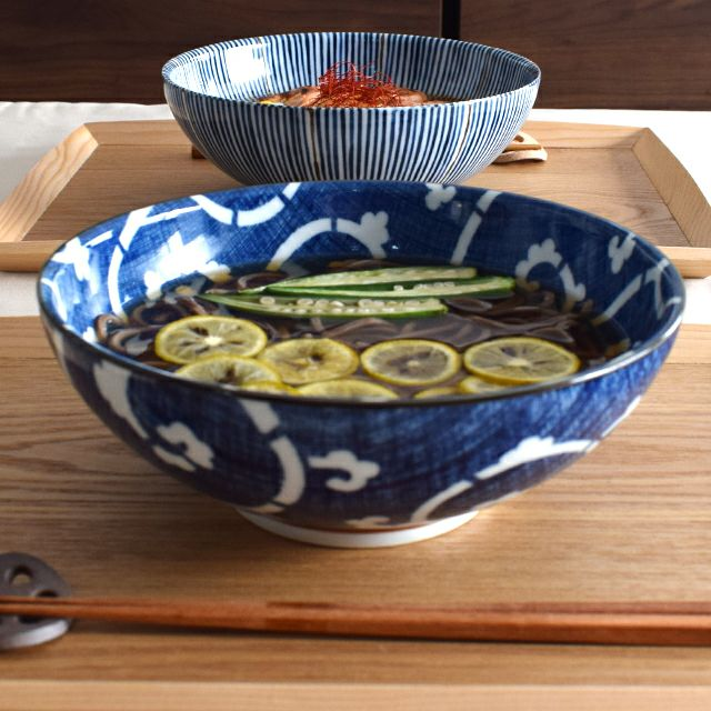 かや目たこ唐草麺鉢