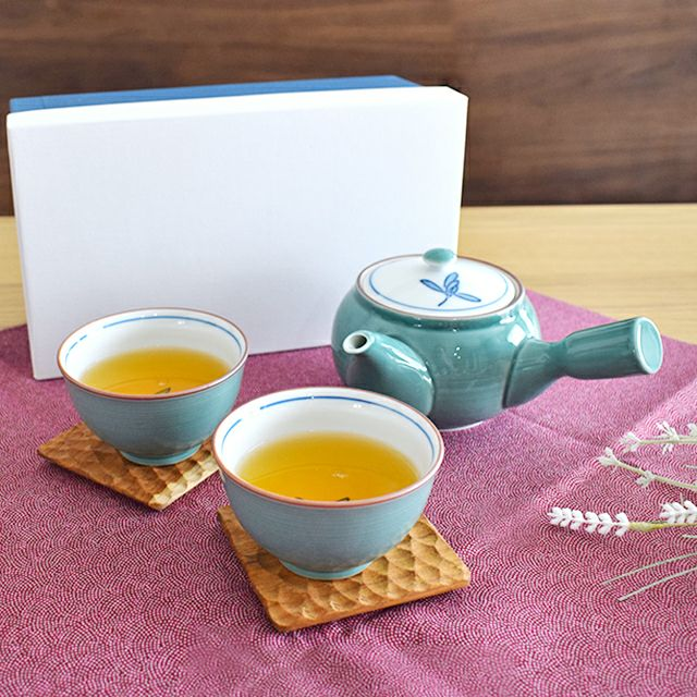 グリーン蘭 茶器セット