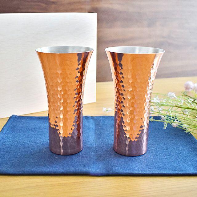 純銅槌目ビアカップ2PCセット