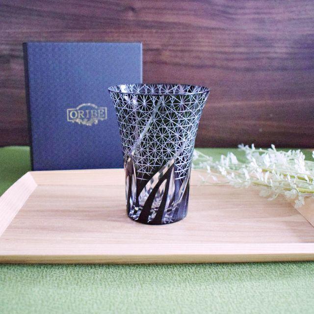 切子タンブラー風樹 ブラック