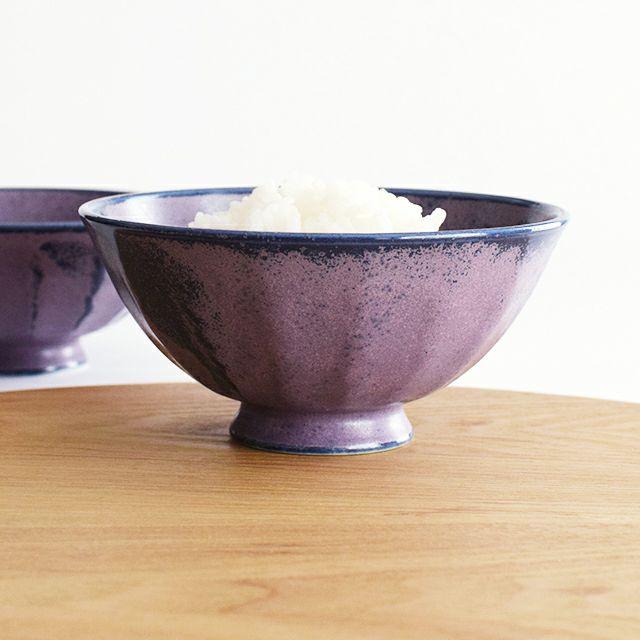 窯変削ぎ茶碗 大 赤紫